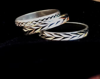 Sterling  Silver stack rings size 8