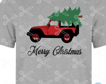 Christmas truck SVG, DXF, PNG, Eps Cutting Files, Christmas tree svg, merry Christmas svg, Christmas tree truck, red truck svg