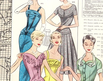 PDFs of vintage 50s pattern drafting system - instant download - Spring 1957