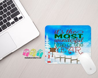Christmas Mouse Pad - Custom Mouse Pad - Office Gift - Office Mouse Pad- Its the Most Wonderful Time Of The Year - Personalized Mouse Pad