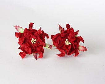 10 pcs - 4 cm Red gardenia flower