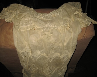 VINTAGE WEDDING GOWN -Hand Embroidered