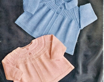 BABY 4ply Matinee Jackets 3-15months - Scotch Wool Shop 182 - PDF of Vintage Knitting Patterns