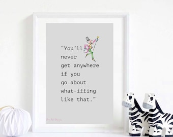"Roald Dahl Inspired - ""What-iffing"" Quote From Charlie And The Glass Elevator. Children's Literature,Children's Room/Nursery Decor. Motivati"