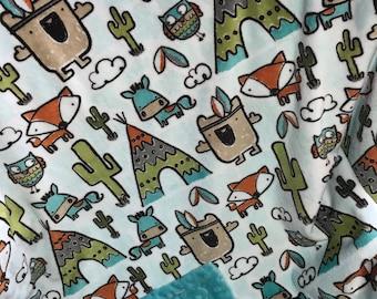 Minky Baby Blankets Personalized Blanket  -