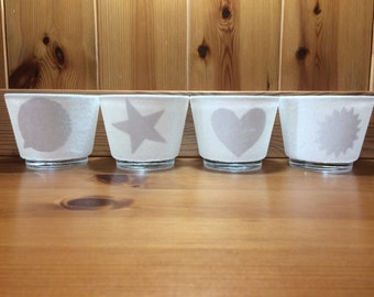Tealight votive Candle Holders Set of 4 Tealights included