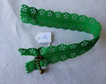 Zipper lace 20 neck 14 cm