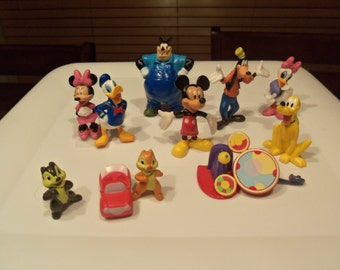 New Mickey Mouse Clubhouse Cake Toppers PVC Figures Lot Birthday Party Supplies