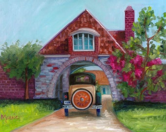 Going home, original art, oil painting, landscape art, landscape, newport, rhode island