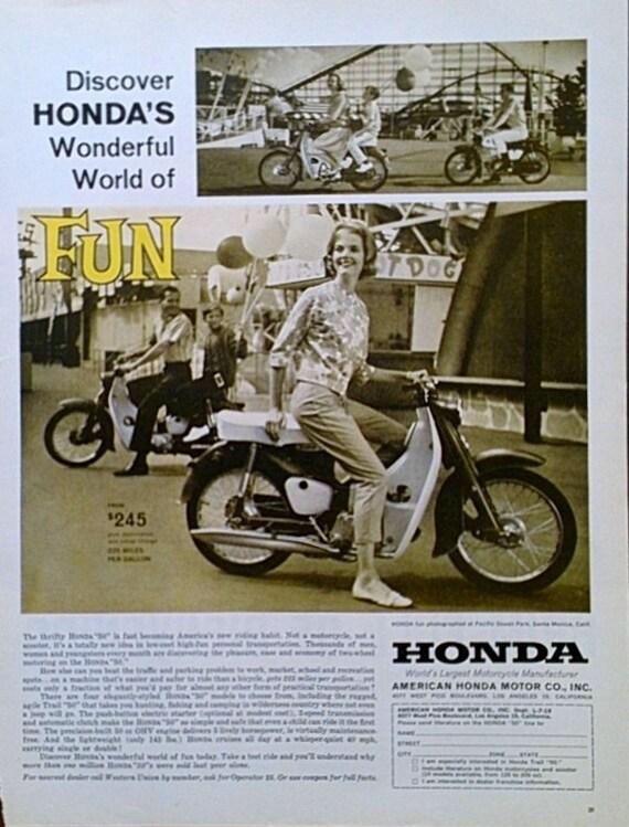 Honda Motorcycle Advertisement Ads