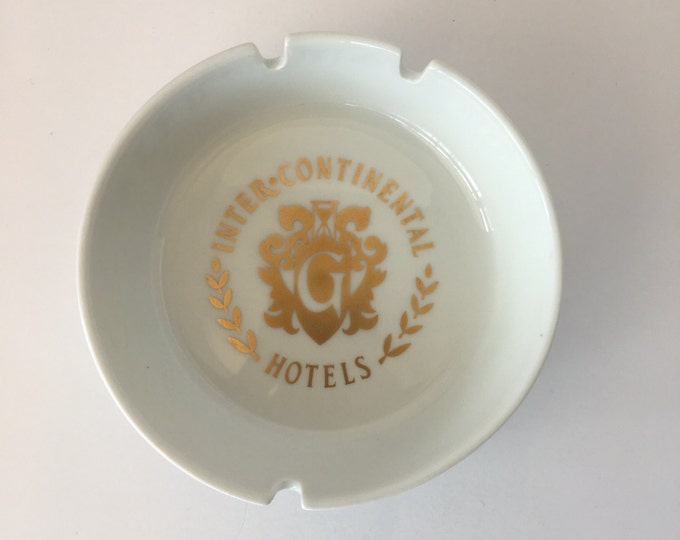 Vintage Inter*continental Hotel. Geneva Switzerland Ashtray.