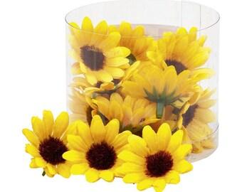 Sunflowers, Artificial Card Making Flowers, Scrapbooking Flowers Decor, Wedding Decoration Craft Supplies, Headband Fabric Flowers Millinery