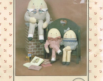 Humpty Dumpty Doll Sewing Pattern - Country Doll Sewing Pattern - Doll With Clothes - Rag Doll Sewing Pattern