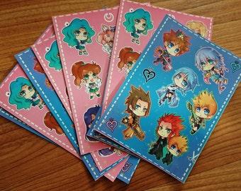 Chibi anime stickers sheet 03 (UNCUT)