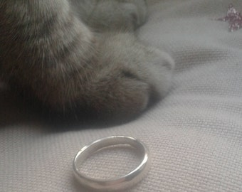 Hand made sterling silver ring
