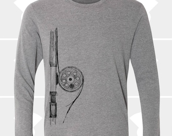 Fly Fishing Rod - Unisex Long Sleeve Shirt