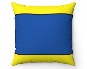 Letter D  Nautical Flag Pillow