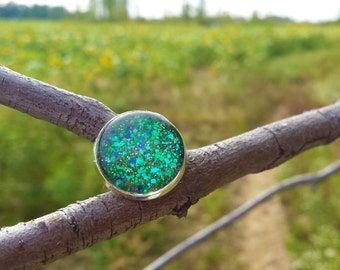 In the Shallows - Hand-Painted Glass Ring