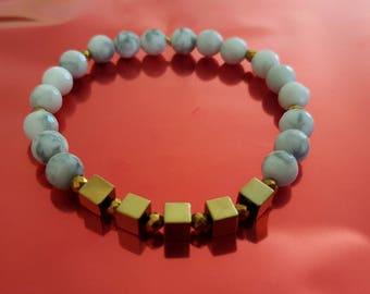Eugenie howlite bracelet
