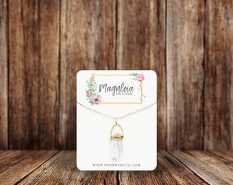 Necklace Cards | Custom Necklace Cards | Rounded Rectangle | Jewelry Display Cards | SH015NE