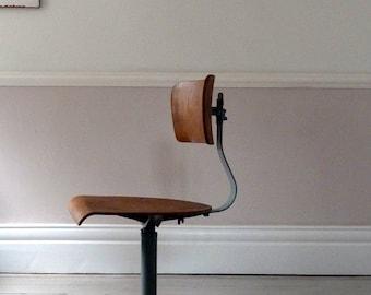 1956 European Industrial Planners Chair / Desk Chair