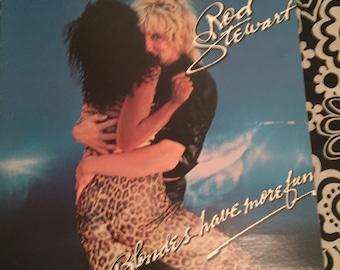 "Rod Stewart 1978 vinyl record ""Blondes have more fun or do they?"""