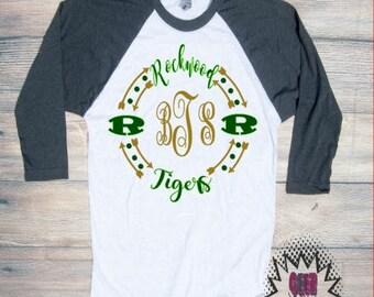rockwood Tshirt Football  Youth Kid Child Unisex Cotton Team spirit t-shirt vinyl