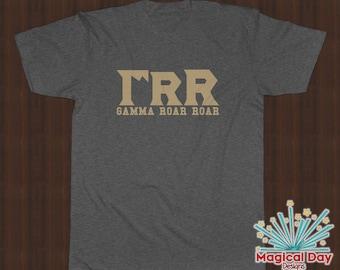 Disney Shirts - Gamma Roar Roar (GRR) Monsters University (Tan Design)