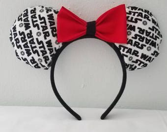 Star Wars Mickey Ears w/ optional Lightsaber