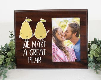 FREE SHIPPING We make a great pear picture frame for cute couple