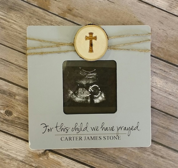 For This Child We Have Prayed Personalized Photo Frame