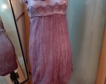 Purple Silk Italian Summer dress S
