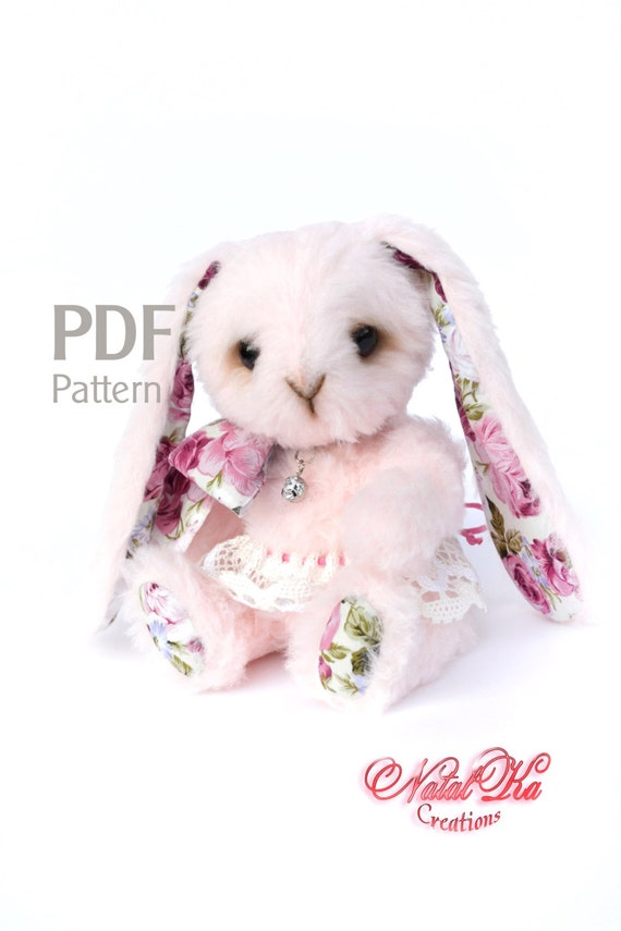 Pattern teddy bunny rabbit Rosa 83 in pattern rabbit bunny