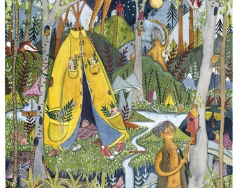 The Shiftress' Forest (Limited Edition Giclee Art Print)