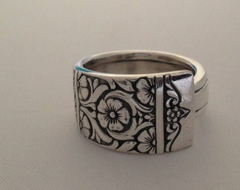 Spoon Ring Inauguration 1948 Size 6 to 15 Choose Your Size Vintage Silveplate