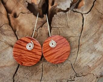 Wood Earrings, Silver Earrings, Sterling Silver, Australia, Australian Jewellery, Burl, Statement earrings, Wedding, Gift, Oversize earrings