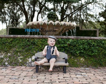 Wooden Park Bench Photography Prop