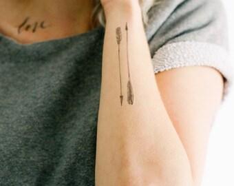 4 Arrow Temporary Tattoos - SmashTat