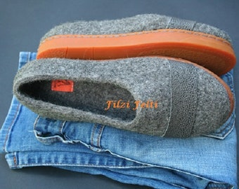 Shoes to be worn with jeans Outdoor Orange Gray Leather