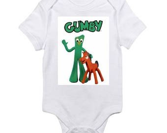 Gumby and Pokey vintage style baby onesie