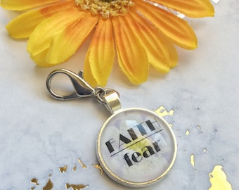 Zipper Pull, Zipper Pull Charm, Purse Zipper Pull, Clip on Charms, Blessed Gifts, Bridesmaid Gift Ideas, Zipper Charms, Mantra Jewelry