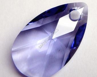 Swarovski 6106 Teardrop Pendants 16mm  Crystal Tanzanite 2 pcs