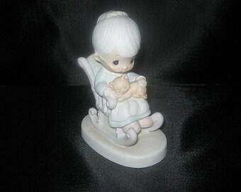 Enesco Johnathon And David Figurine, The Purr-Fect Grandma, Dated 1979
