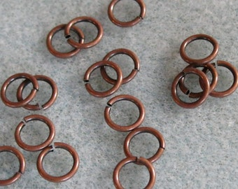 Antique Copper 7mm Jump Rings Nickel Free 624