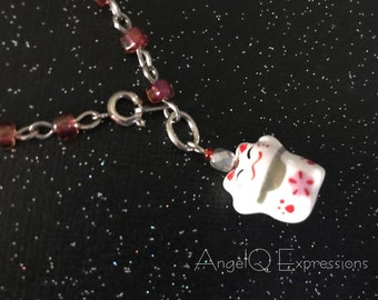 Lucky Cat Maneki Neko Beaded Bracelet