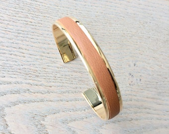 Gold XS camel leather cuff