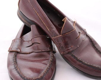 Vintage Sperry Topsider Penny Loafers Size 4 Sperry Penny Loafer Grease 1950s Cordovan Leather Dress Shoe