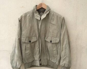 Vintage Lyle & Scott Zipper Jacket/Bomber Jacket/Size M