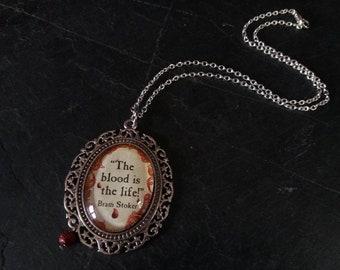 Vampire necklace. Vampire pendant. Gothic necklace. Gothic jewellery. Dracula pendant. Creepy necklace. Dracula necklace. Gothic gift. Goth