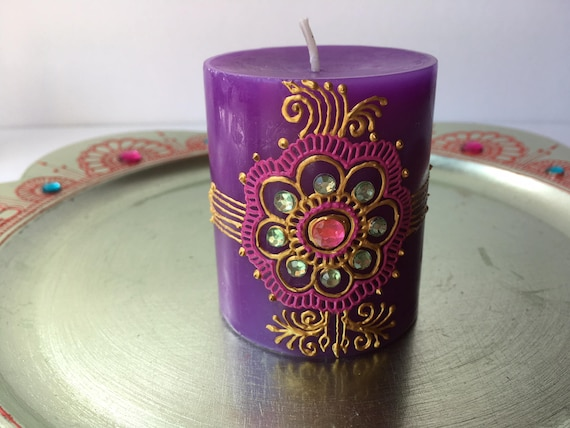 Henna Party Gifts : Scented henna candle wedding favors party